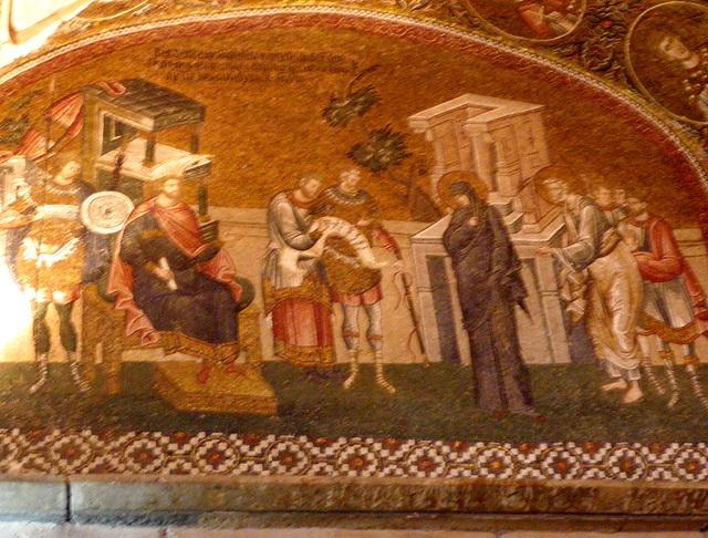La Vierge devant un roi.