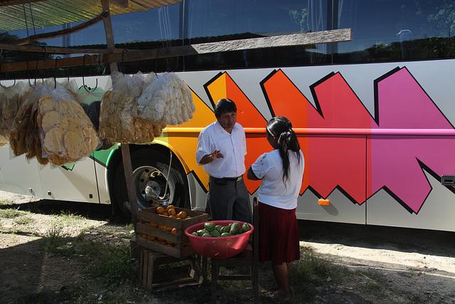 unser Busfahrer im Gespräch