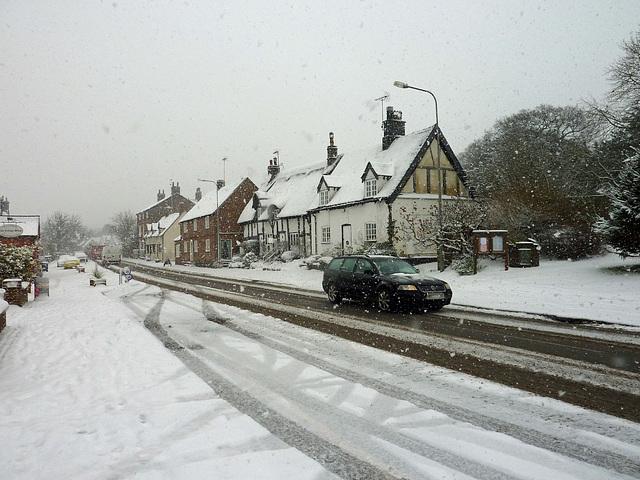 Snow in my village