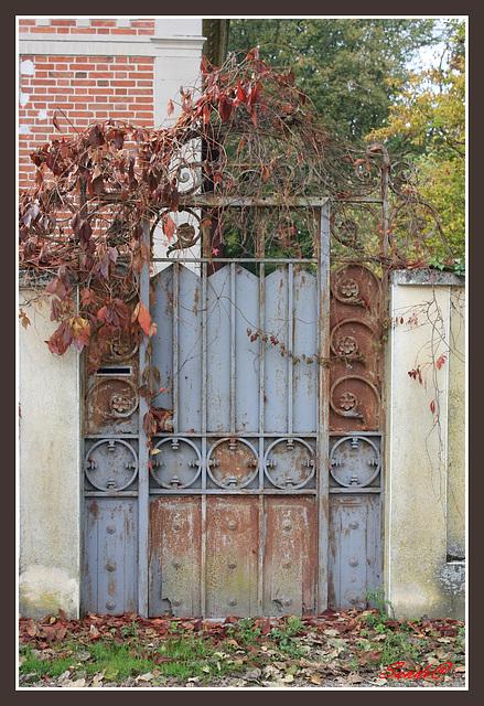 La porte coté jardin