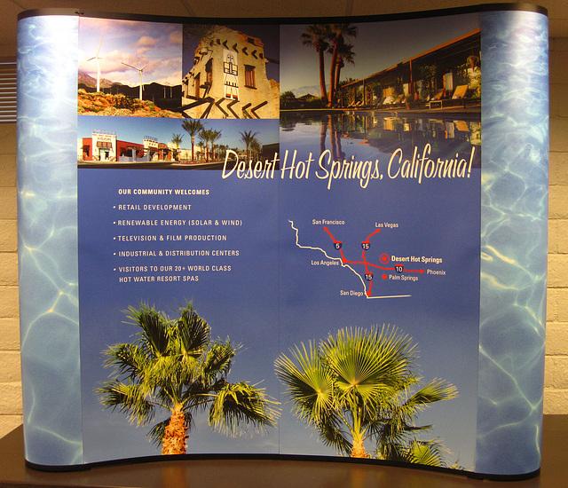 Desert Hot Springs Promotional Sign (3249)