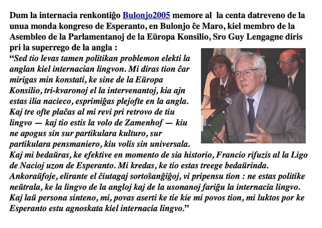 Guy Lengagne, Bulonjo ĉe Maro / Boulogne-sur-Mer, 2005 — EO