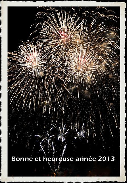 Bonne et heureuse année 2013...