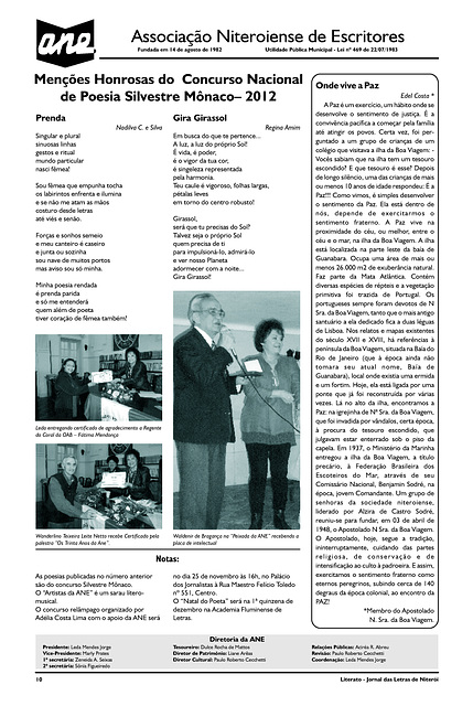Literato 10 - Pág. 10 - Associação Niteroiense de Escritores
