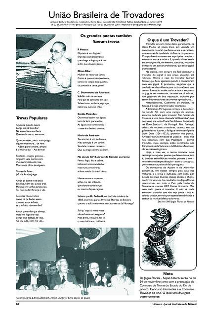Literato 10 - Novembro - 2012 - Pág. 08 - União Brasileira de Trovadores
