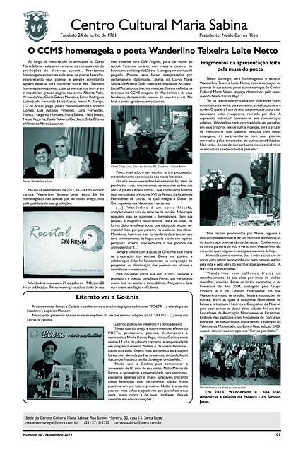 Literato 10 - Novembro - 2012 - Pág. 07 - Centro Cultural Maria Sabina