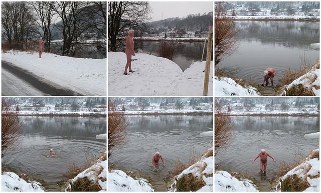 Bad in der Elbe am 16.1.2013 - Ermutigung - Incoraggiamento - Animación - Kuraĝigo - Encouragement - Bátoritás - Povzbuzeni