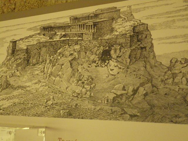 Acropole de Lindos, gravure.