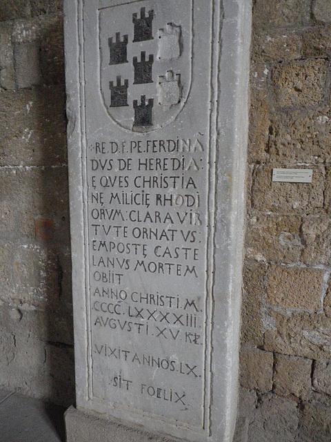 Tombe de chevalier : Fernidand de Heredia