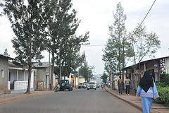 Strato en la supra parto de Kigali