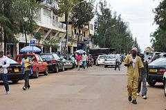 Avenuo de Karisimbi, ĉefa vendeja strato de Kigali