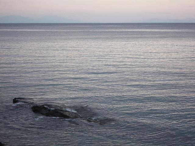 Vue depuis le port de Rhodes.