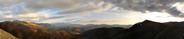 Panorámica desde Abodi (Navarra)