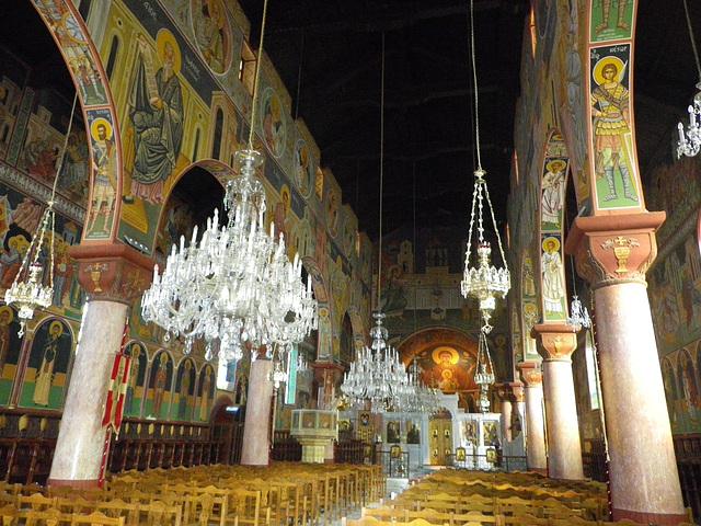 Eglise de l'Evangelismos : intérieur.
