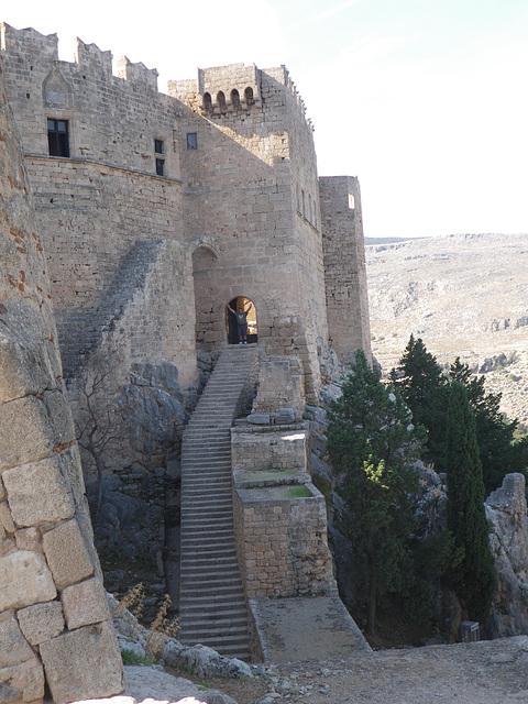 Les murailles de Lindos