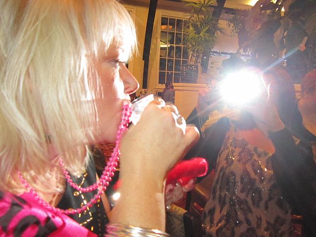 Mandi having her shot glass