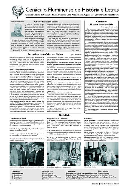 Literato 10 - Novembro - 2012 - Pág. 04 - Cenáculo Fluminense de História e Letras
