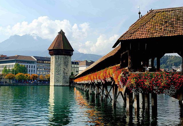 Le pont de la Chapelle de Lucerne...