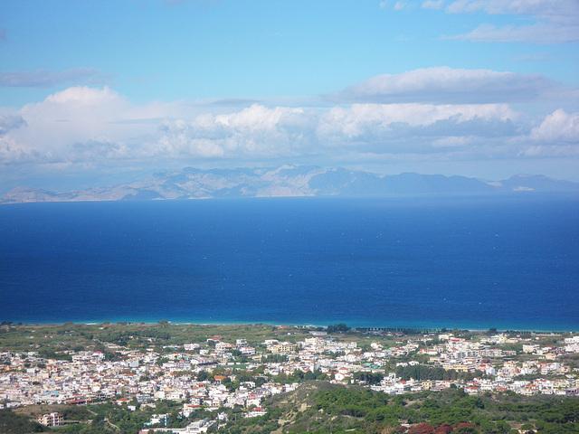 Belvédère de Ialysos : la côte carienne.