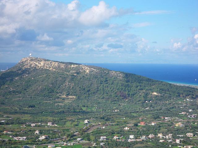 Belvédère de Ialysos : l'acropole de Rhodes
