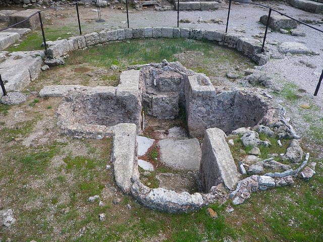 Acropole de Ialysos : baptistère chrétien