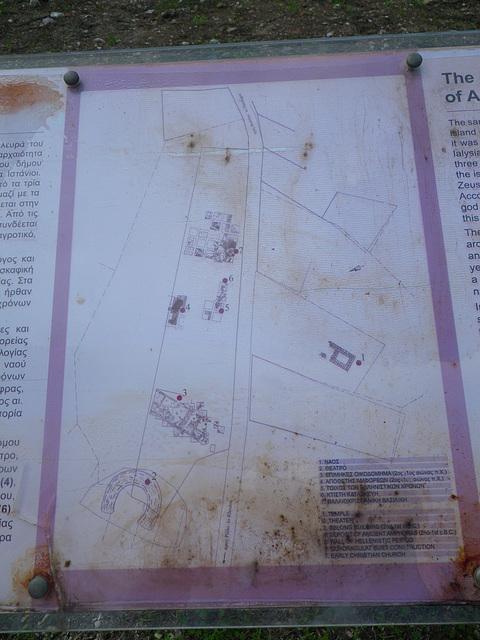 Plan des fouilles à Theologos.
