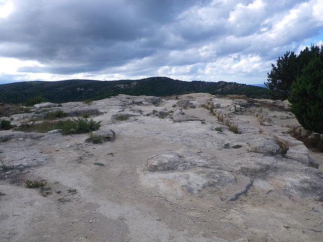 Acropole de Kamiros : terrasse du temple d'Athena Polias