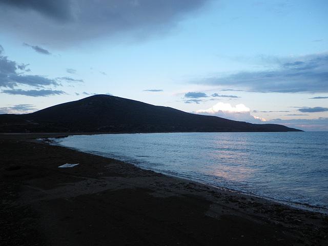 Baie de la pointe sud au soir.