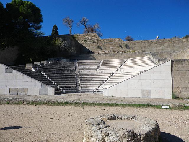 Acropole de Rhodes : le théâtre