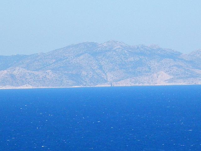 La côte carienne depuis l'acropole de Rhodes.
