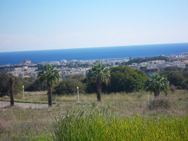 La vieille ville vue depuis l'acropole de Rhodes.