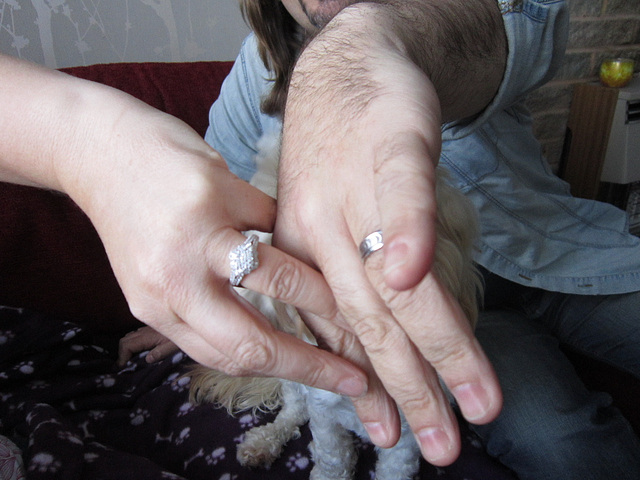 My son and his fiancee's hands