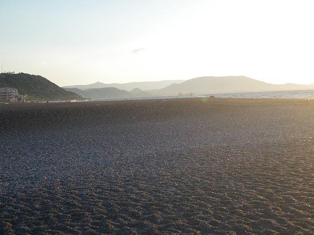 Coucher de soleil sur la plage ouest de la pointe nord.