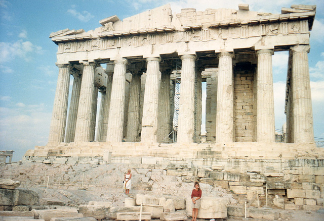 Me infront of the Parthenon, Athens