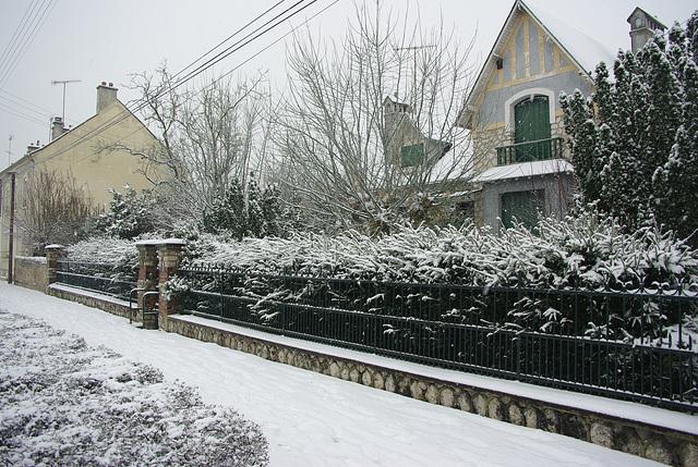 dordives sous la neige janvier 2013