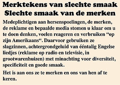 (NL) — Merktekens van slechte smaak