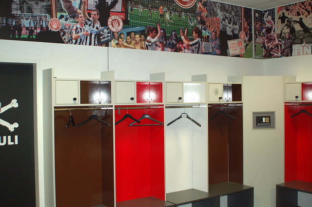 Umkleideraum FC St. Pauli!