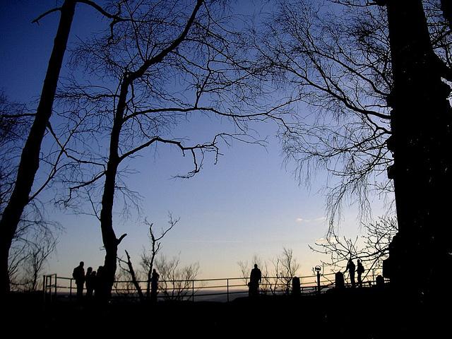 Winternacht auf dem Lilienstein