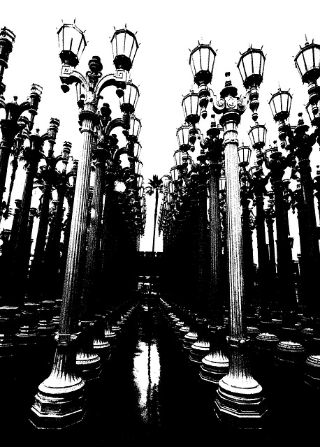 Urban Light by Chris Burden at LACMA (8200A)