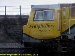 Freightliner #70011 in Cardiff, Wales (UK), 2012