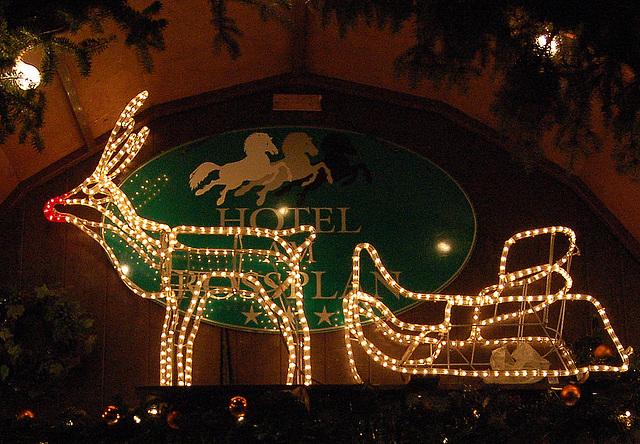 Rudolph The Red Nosed Reindeer  / Rudolf, la ruĝnaza boaco / varbilo por la hotelo Roßplan