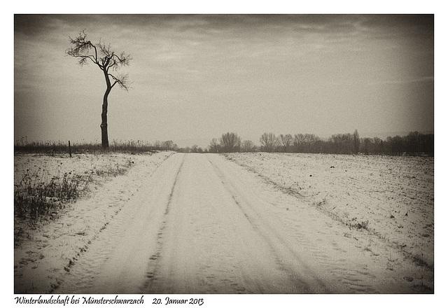Winter landscape near Münsterschwarzach
