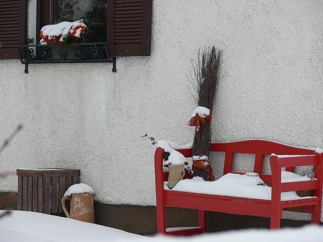 kein Sitzplatz im Winter