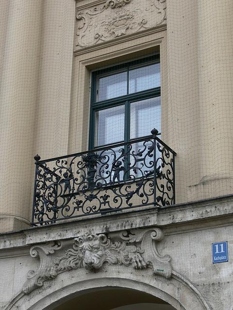 Fenster am Münchner Stachus