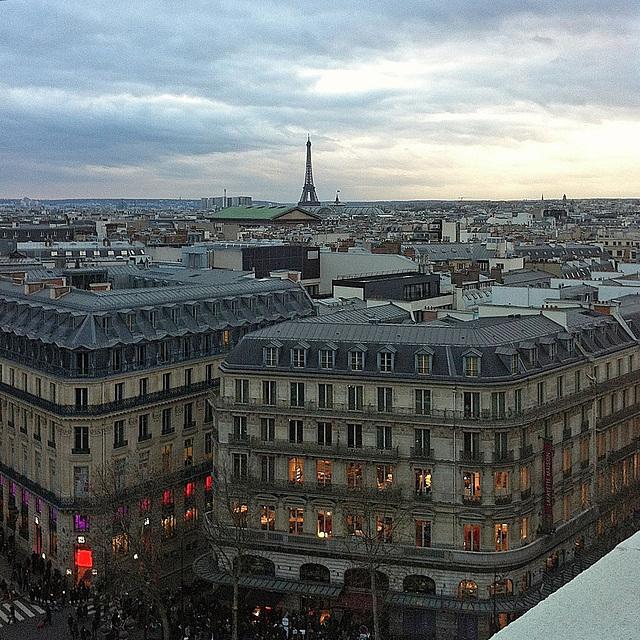 Paris de la terrasse des GL GIMP