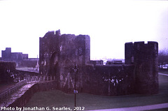 Caerphilly Castle, Picture 3, Edited Version, Caerphilly, Wales (UK), 2012