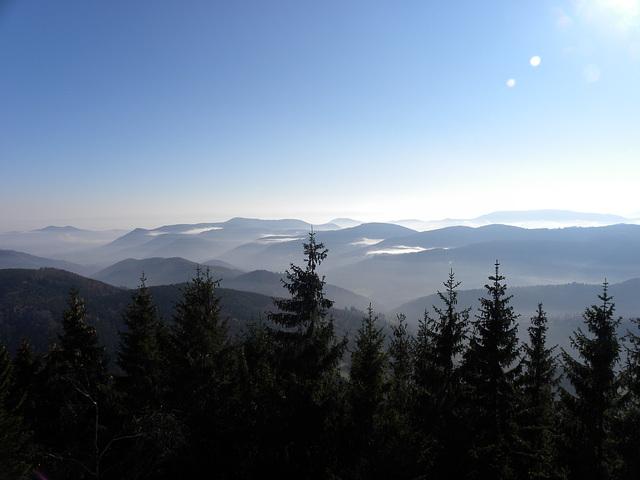 paysage vue climont