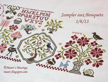 Sampler aux Bouquets 1/6/13