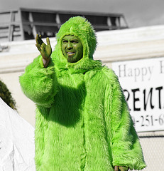 DHS Holiday Parade 2012 - is that a Grinch? (7665A)