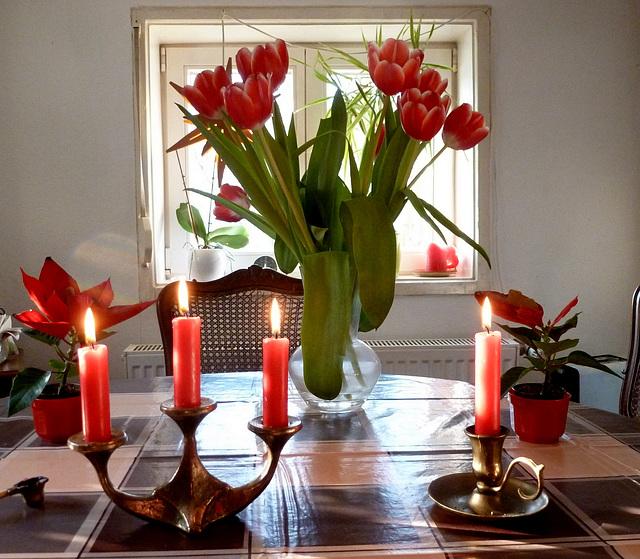 Licht und Rot am Morgen - matene lumo kaj ruĝa